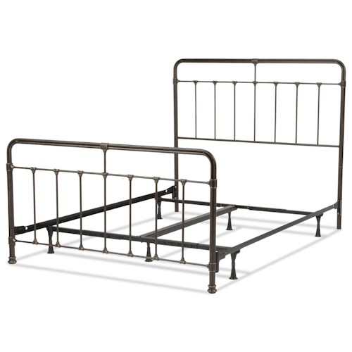 Morris Home Furnishings Metal Beds Full Transitional Fairfield Metal Ornamental Bed