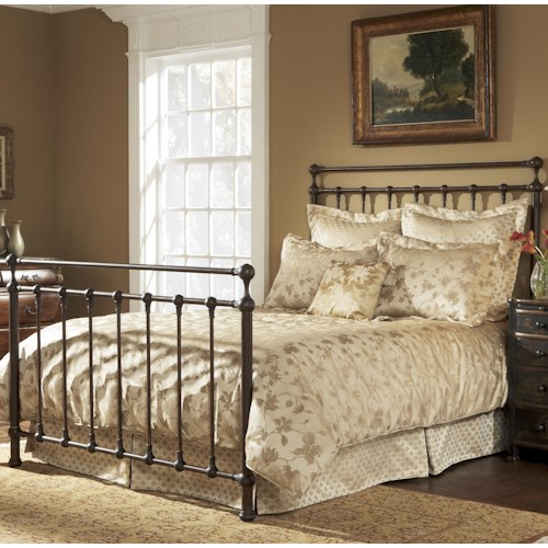 Fashion Bed Group Metal Beds Queen Langley Bed w/ Frame