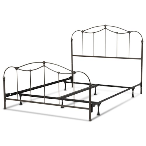 Morris Home Furnishings Metal Beds California King Transitional Affinity Metal Ornamental Bed