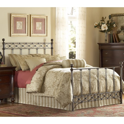 Morris Home Furnishings Metal Beds Queen Argyle Metal Bed w/ Frame