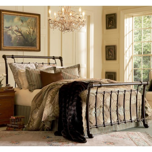 Morris Home Furnishings Metal Beds California King Legion Bed w/ Frame