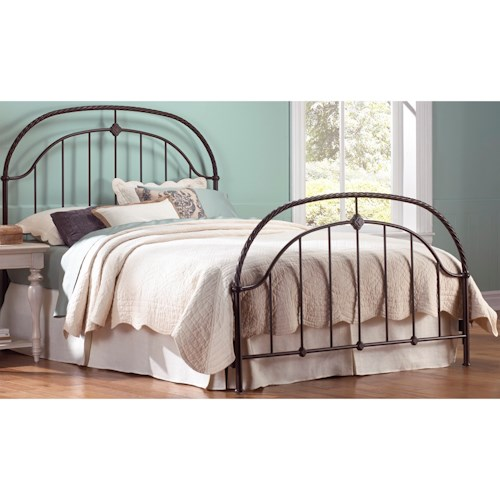 Morris Home Furnishings Metal Beds King Transitional Cascade Metal Ornamental Bed