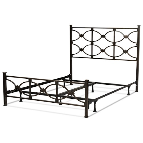 Morris Home Furnishings Metal Beds King Contemporary Marlo Metal Ornamental Bed