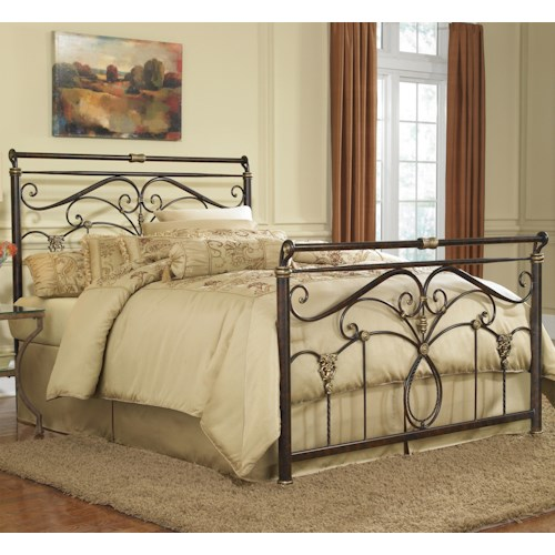 Morris Home Furnishings Metal Beds King Lucinda Bed w/ Frame