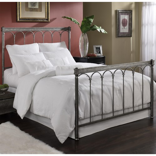 Fashion Bed Group Metal Beds King Romano Bed w/ Frame