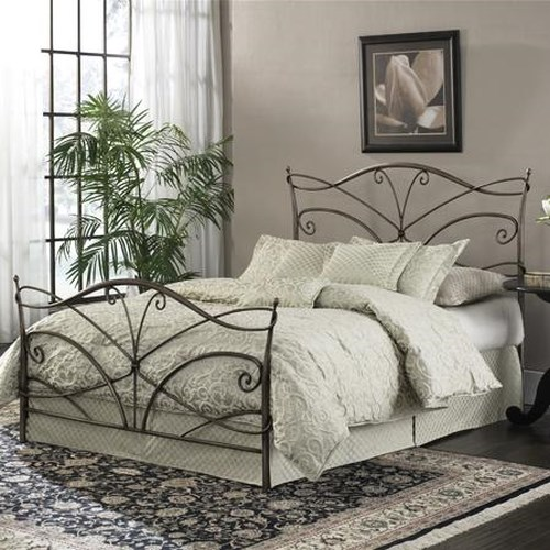 Fashion Bed Group Metal Beds King Papillon Bed w/ Frame