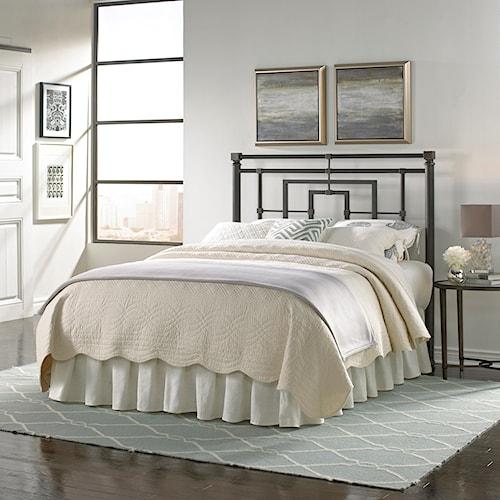 Morris Home Furnishings Metal Beds King Tranistional Sheridan Metal Headboard
