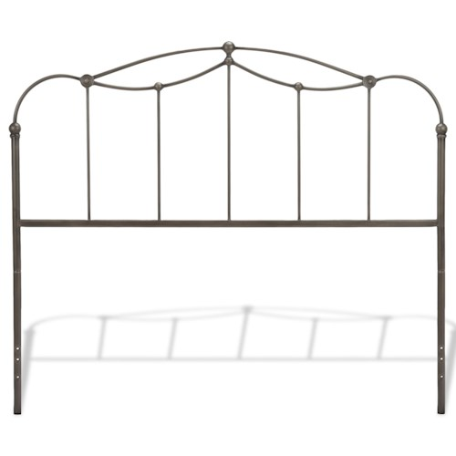 Fashion Bed Group Metal Beds Queen Transitional Affinity Metal Headboard