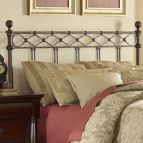 Fashion Bed Group Metal Beds King/California Argyle Headboard
