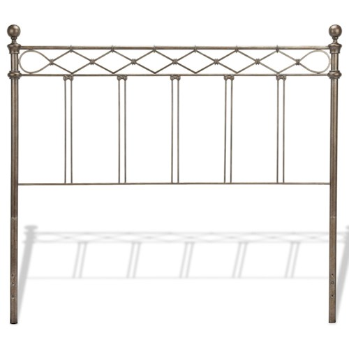 Morris Home Furnishings Metal Beds California King Transitional Argyle Metal Headboard