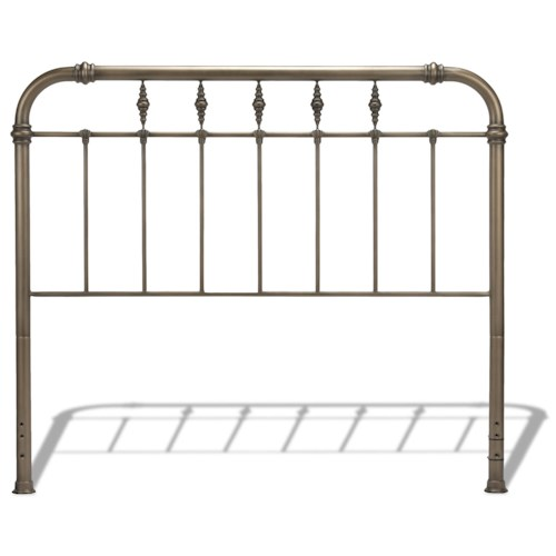 Morris Home Furnishings Metal Beds California King Transitional Vienna Metal Headboard