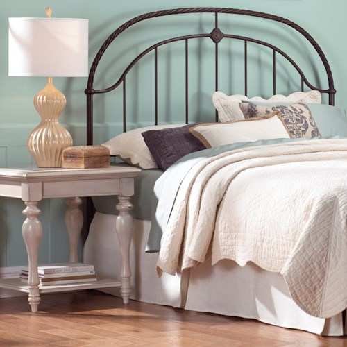 Morris Home Furnishings Metal Beds Queen Transitional Cascade Metal Headboard