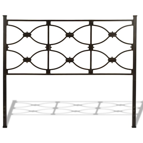 Morris Home Furnishings Metal Beds Cal King Contemporary Marlo Metal Headboard