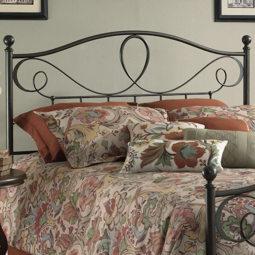 Fashion Bed Group Metal Beds Full Sylvania Headboard