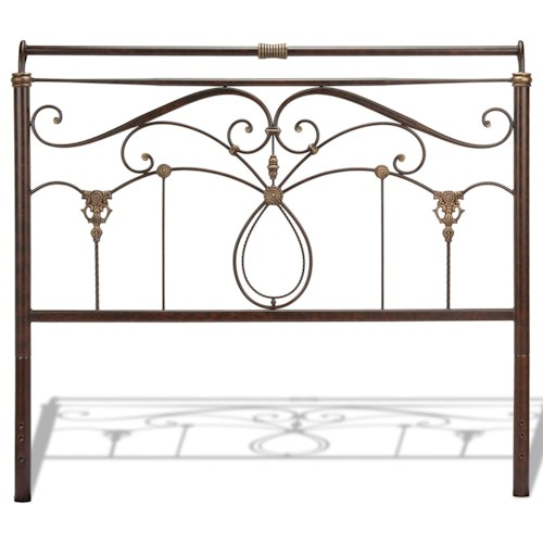 Morris Home Furnishings Metal Beds California King Traditional Lucinda Metal Headboard
