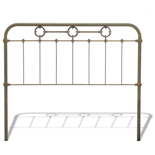 Morris Home Furnishings Metal Beds King Transitional Madera Metal Headboard