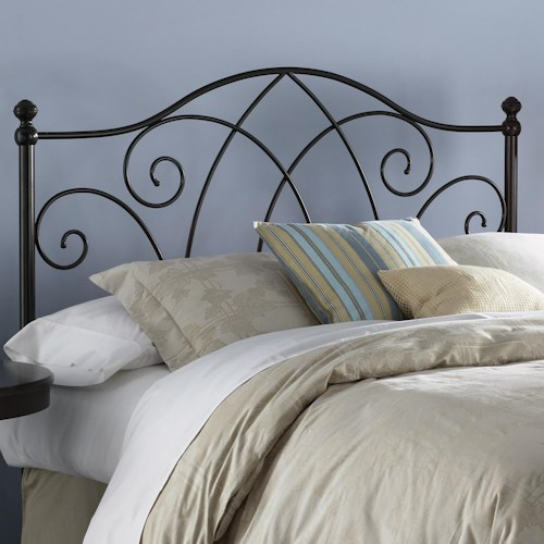 Morris Home Furnishings Metal Beds Full Deland Headboard w/ Finials