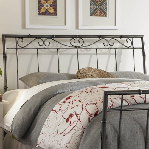 Fashion Bed Group Metal Beds Full Ellington Headboard w/ Spindles