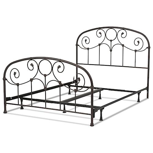 Morris Home Furnishings Metal Beds California King Transitional Grafton Metal Ornamental Bed