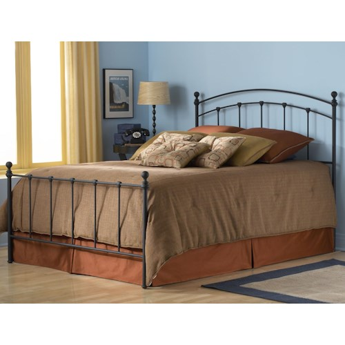 Morris Home Furnishings Metal Beds Twin Sanford Bed w/ Frame