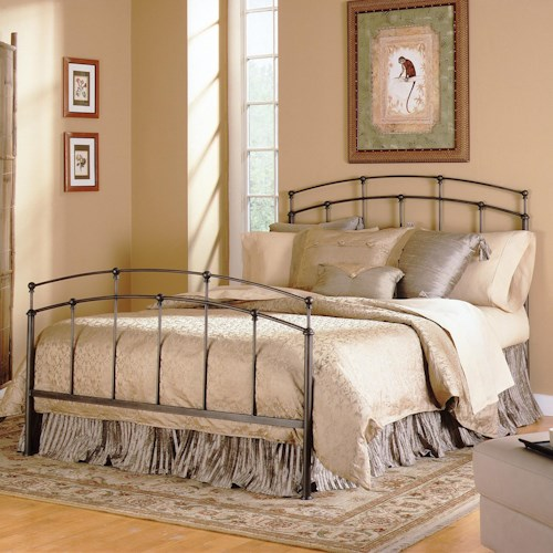 Morris Home Furnishings Metal Beds Queen Fenton Metal Bed w/ Frame