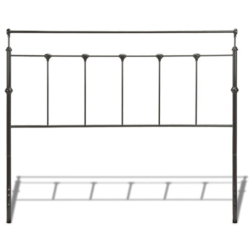 Morris Home Furnishings Metal Beds California King Transitional Winslow Metal Headboard