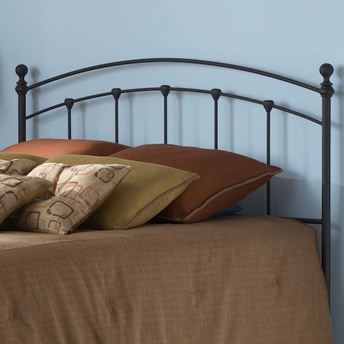 Morris Home Furnishings Metal Beds Twin Sanford Headboard