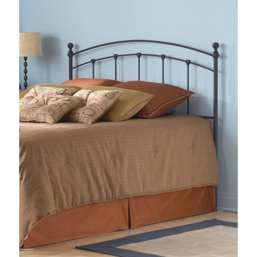 Morris Home Furnishings Metal Beds California King Transitional Sanford Metal Headboard