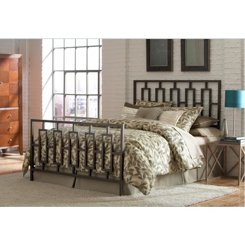 Morris Home Furnishings Metal Beds Full Miami Bed