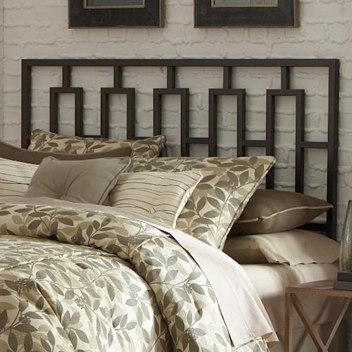 Fashion Bed Group Metal Beds Queen Miami Duo Panel w/ Headboard and Footboard