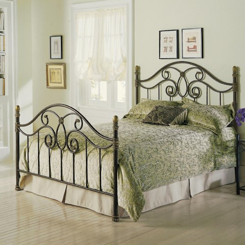 Morris Home Furnishings Metal Beds Queen Dynasty Metal Bed w/ Frame