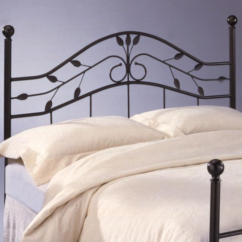 Morris Home Furnishings Metal Beds Queen Sycamore Duo Panel Headboard or Footboard