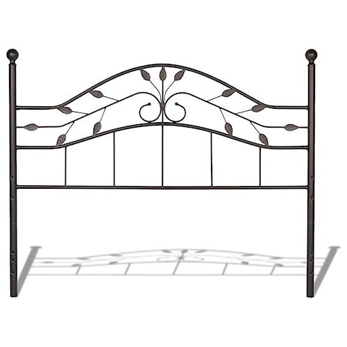 Morris Home Furnishings Metal Beds California King Transitional Sycamore Metal Headboard