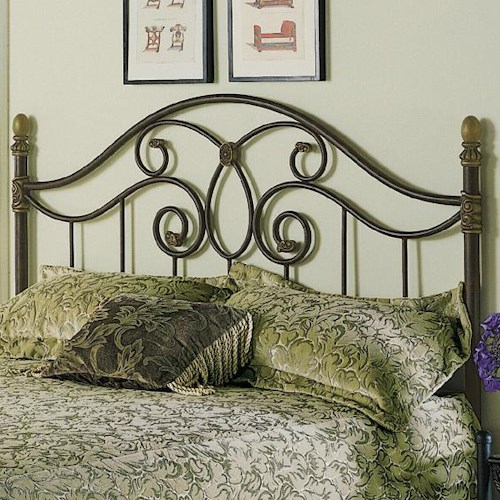 Fashion Bed Group Metal Beds Full Dynasty Duo Panel Headboard or Footboard
