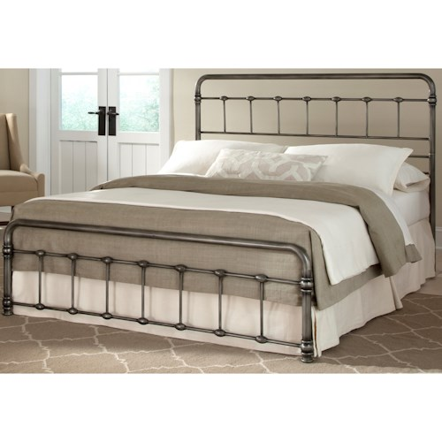 Fashion Bed Group Snap Beds Full Metal Snap Bed with Weathered Nickel Finish