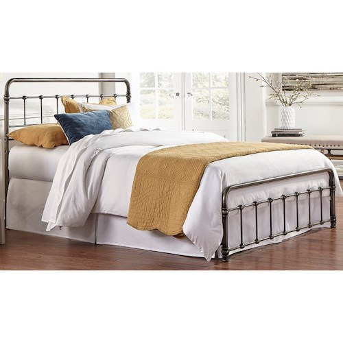 Morris Home Furnishings Snap Beds California King Metal Snap Bed with Weathered Nickel Finish