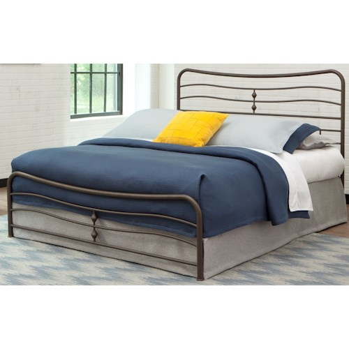 Morris Home Furnishings Snap Beds Queen Metal Snap Bed with Coffee Finish