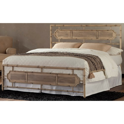 Fashion Bed Group Snap Beds Coastal King Metal Snap Bed with Desert Sand Finish