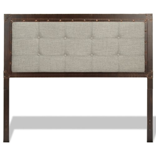 Morris Home Furnishings Upholstered Headboards and Beds California King Transitional Metal and Fabric Headboard