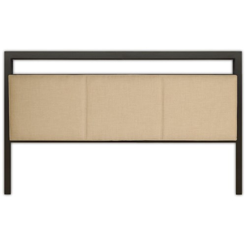 Fashion Bed Group Upholstered Headboards and Beds Queen Transitional Metal and Fabric Headboard
