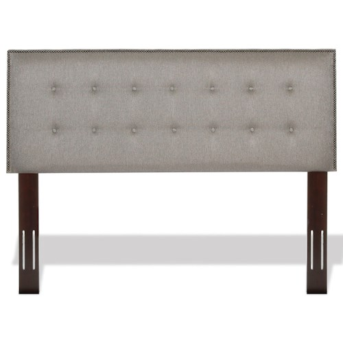 Morris Home Furnishings Upholstered Headboards and Beds Full / Queen Wood and Fabric Headboard