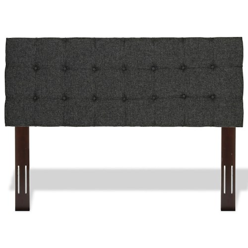 Fashion Bed Group Upholstered Headboards and Beds Full / Queen Pendleton Wood and Fabric Headboard