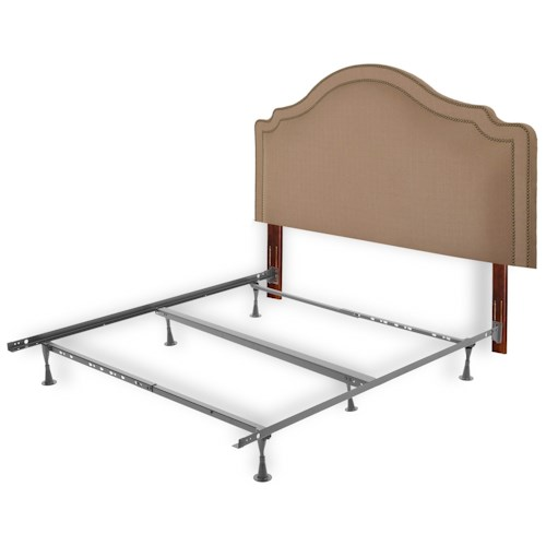 Fashion Bed Group Upholstered Headboards and Beds Full/Queen Transitional Wood and Fabric and Steel Headboard & Frame
