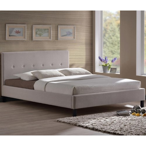 Morris Home Furnishings Upholstered Headboards and Beds California King Mallow Platform Bed