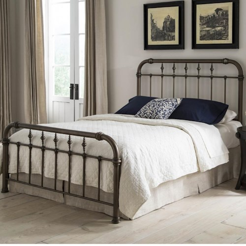 Morris Home Furnishings Vienna Queen Bed with Spindle Design Without Frame