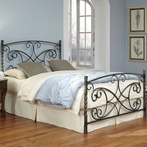 Fashion Bed Group Wood and Metal Beds King Charisma Bed with Frame