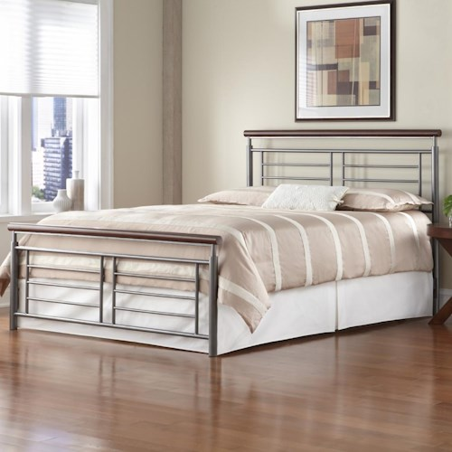 Morris Home Furnishings Wood and Metal Beds King Fontane Bed