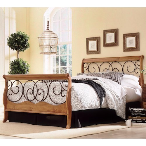 Fashion Bed Group Wood and Metal Beds Queen Dunhill I Bed w/ Frame