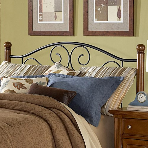 Morris Home Furnishings Wood and Metal Beds Twin Doral Headboard