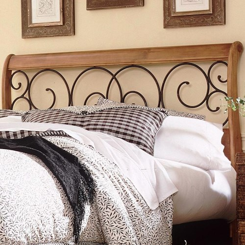 Fashion Bed Group Wood and Metal Beds King/California King Dunhill I Headboard
